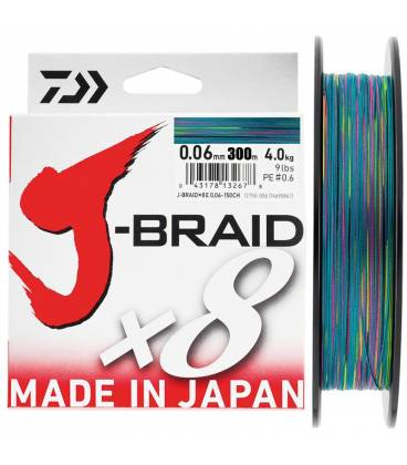 Daiwa J Braid X8 Multicolor