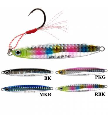 señuelos pesca slow jigging jigs roll over x-way