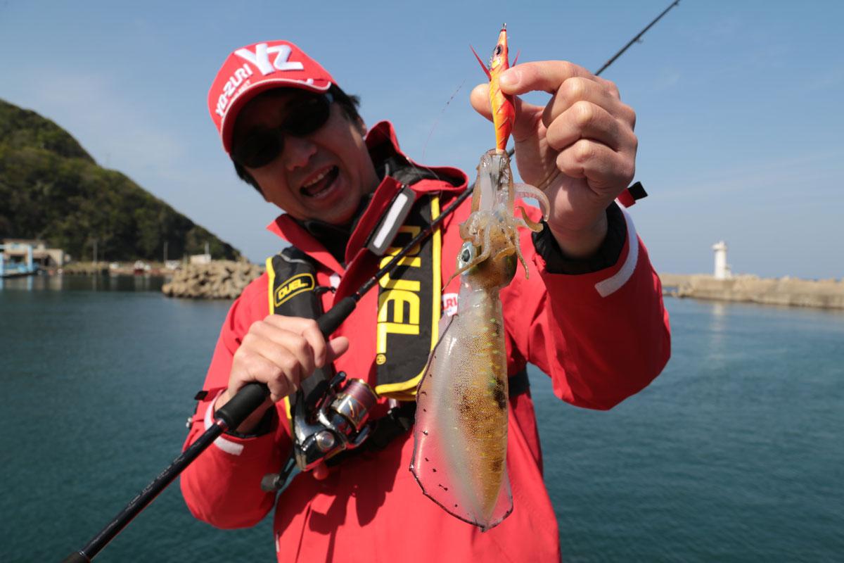 pesca del calamar eging yo-zuri