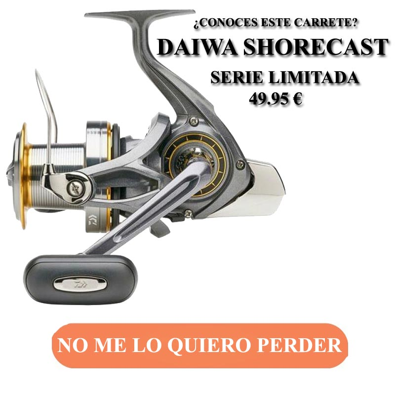ofertas carretes daiwa shorecast